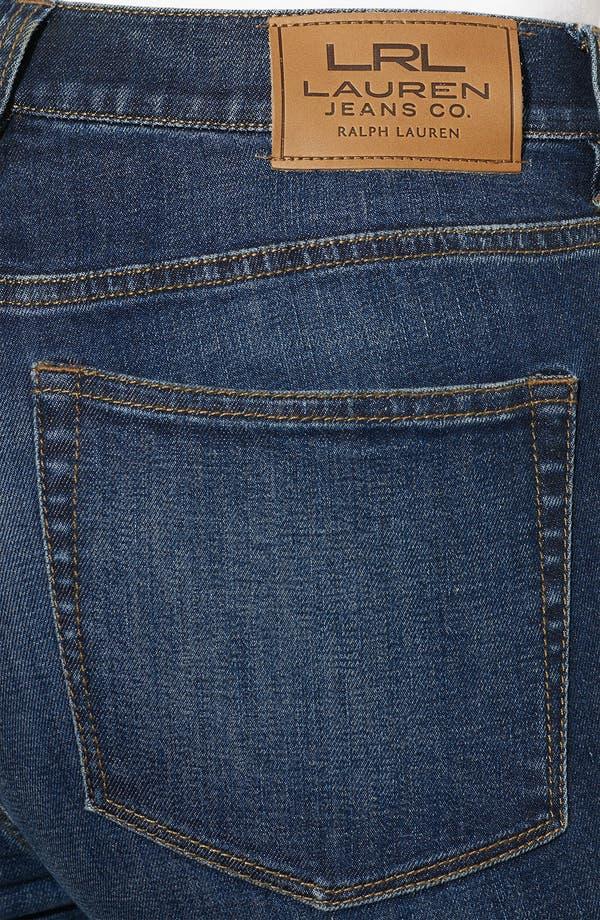 Alternate Image 3  - Lauren Ralph Lauren Slimming Straight Leg Jeans (Petite) (Online Only)