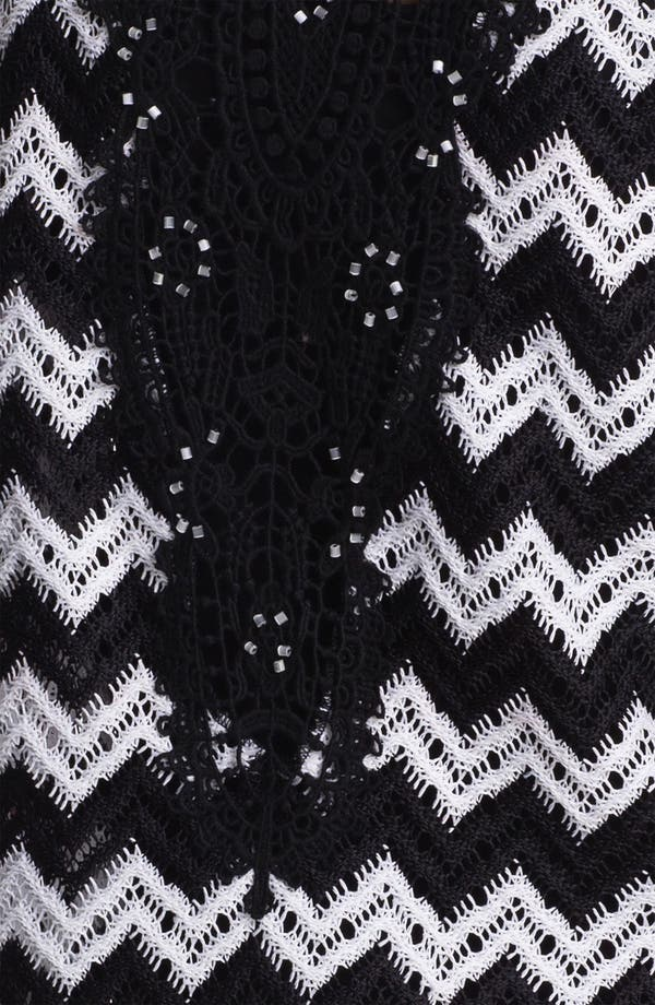 Alternate Image 3  - Alberto Makali Crochet Back Zigzag Cardigan