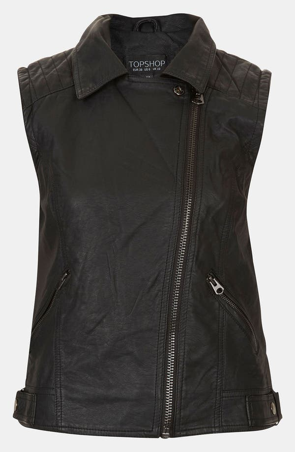 Alternate Image 3  - Topshop 'Maddy' Sleeveless Biker Jacket