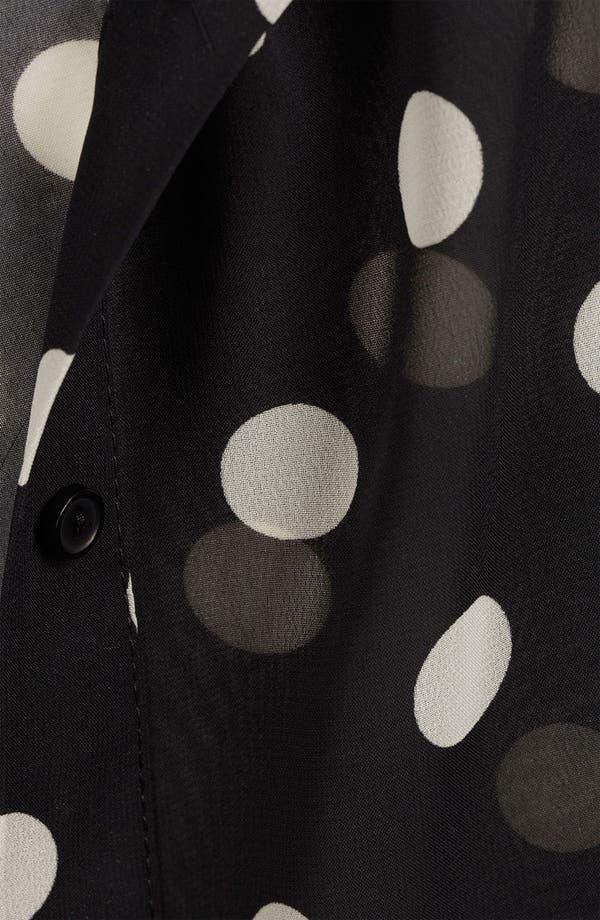 Alternate Image 3  - Topshop Sheer Polka Dot Shirt