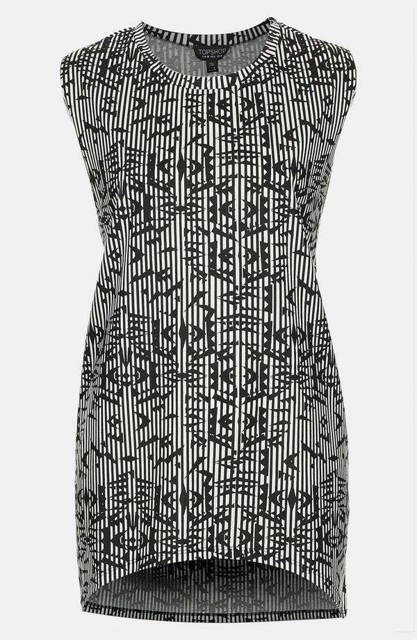 Alternate Image 1 Selected - Topshop Aztec Stripe Tunic Tank