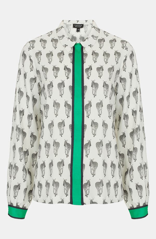 Alternate Image 1 Selected - Topshop 'Zebra' Shirt