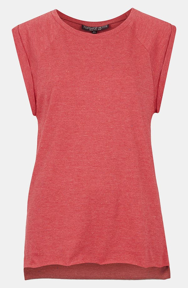 Alternate Image 1 Selected - Topshop 'High Roller' Specked Tee (Petite)