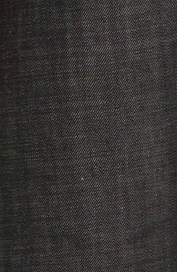 Alternate Image 4  - A.P.C. 'Petit Standard' Slim Leg Jeans (Black) (Online Only)