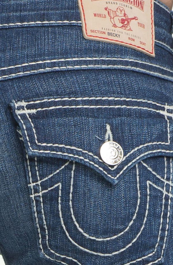 Alternate Image 3  - True Religion Brand Jeans 'Becky' Bootcut Jeans (Rosewood)