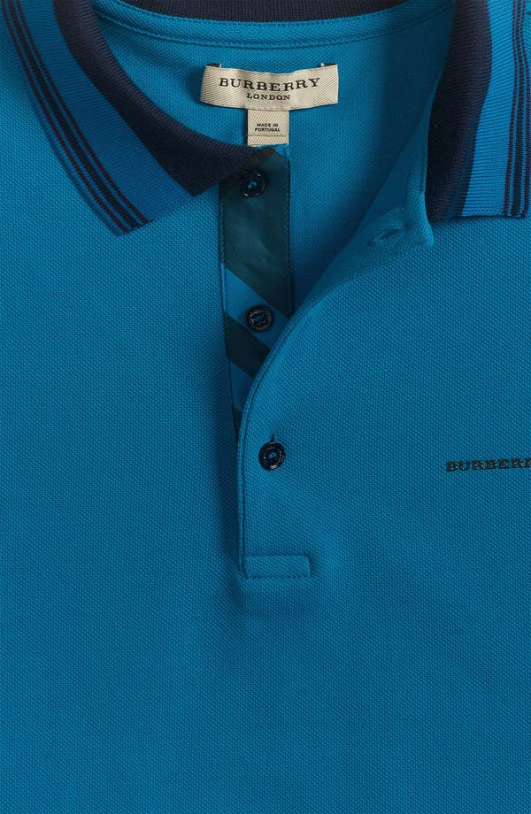 Alternate Image 3  - Burberry London Tipped Polo