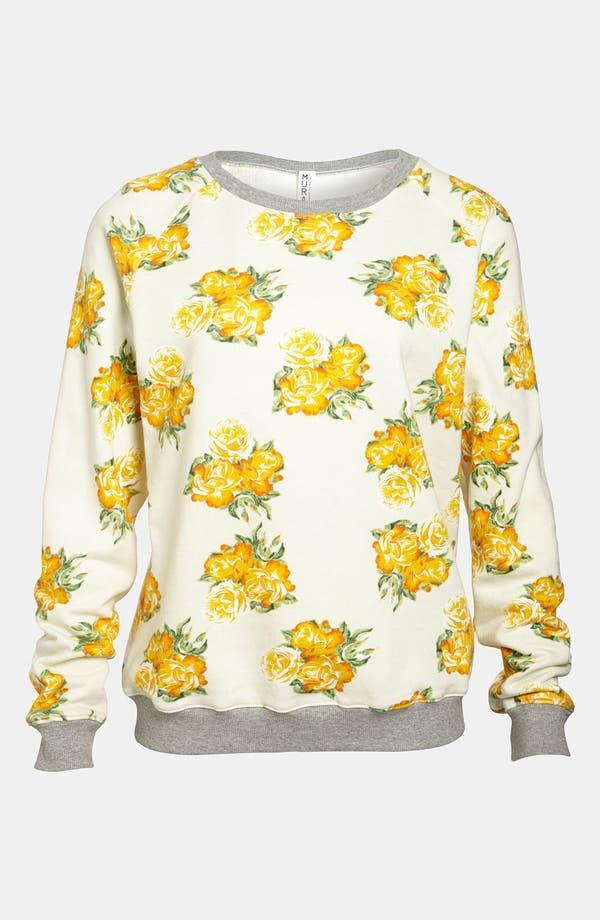 Main Image - Mural Floral Sweatshirt
