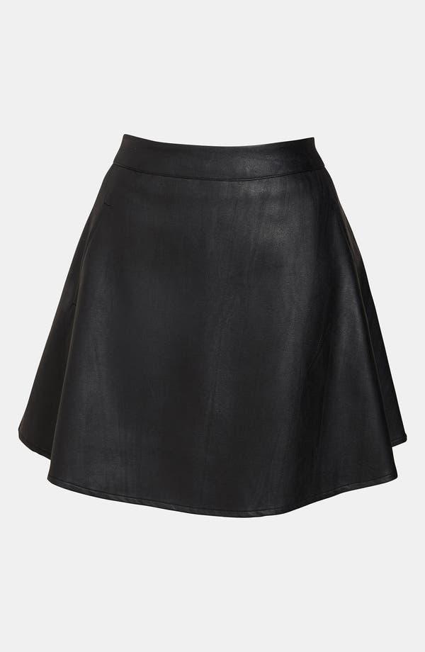 Alternate Image 1 Selected - ASTR Faux Leather Skater Skirt