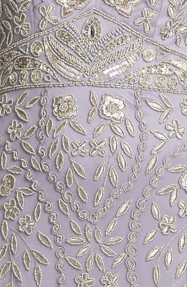 Alternate Image 3  - Sue Wong Embellished V-Neck Mesh Gown