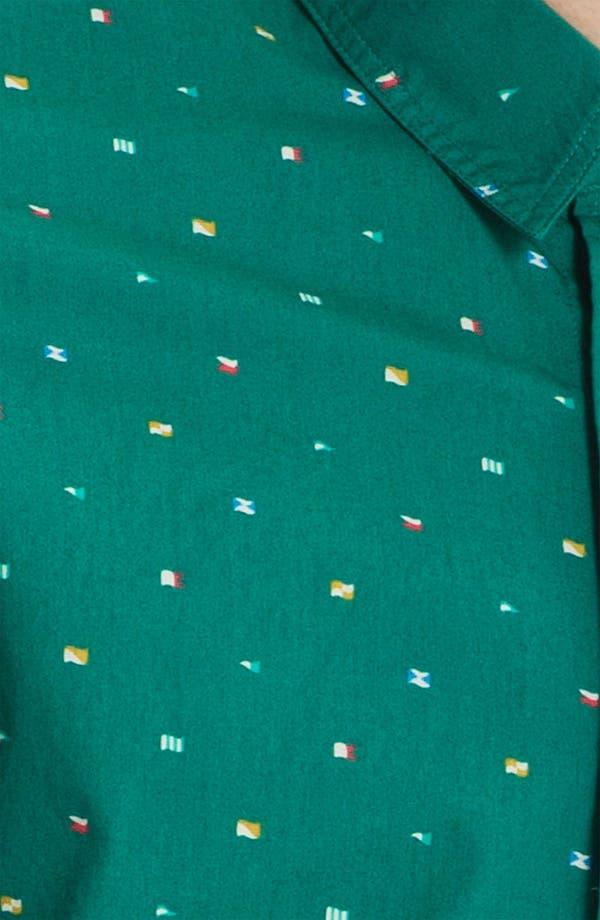 Alternate Image 3  - Topman Green Flag Print Shirt