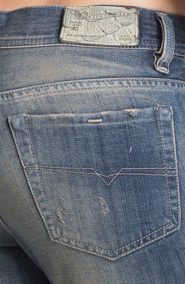 Alternate Image 3  - DIESEL® 'Faithlegg' Distressed Denim Boyfriend Jeans (Denim Distressed)