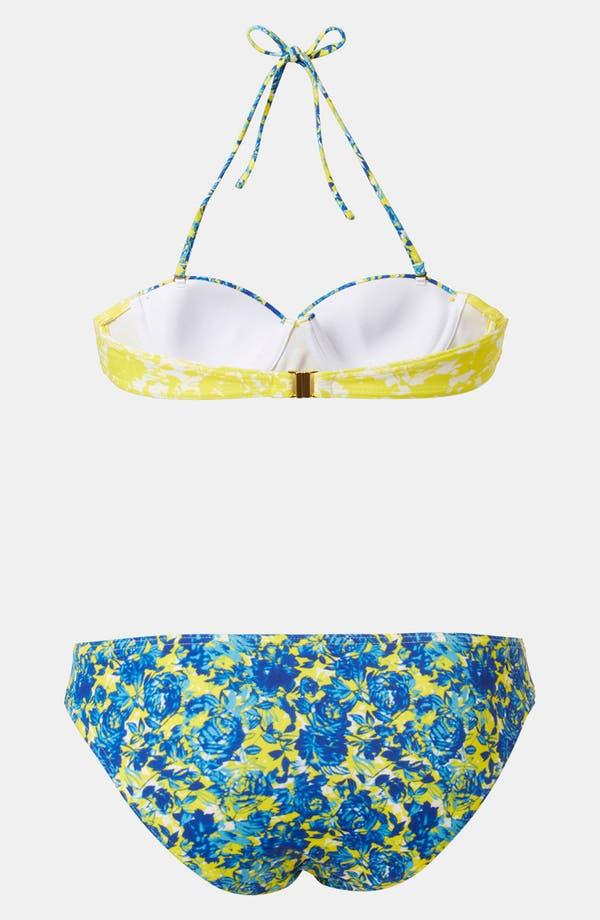 Alternate Image 2  - Topshop 'Porcelain Floral' Print Retro Bikini