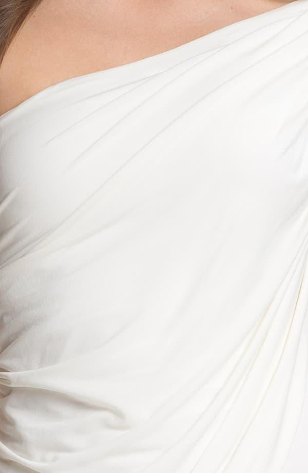 Alternate Image 3  - BCBGMAXAZRIA Draped One Shoulder Jersey Minidress