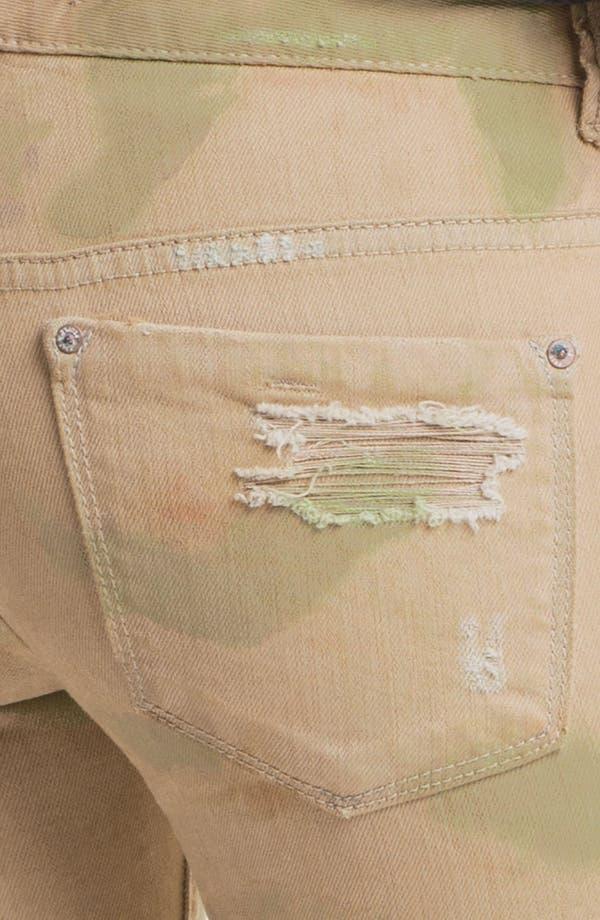 Alternate Image 3  - Free People Print Destroyed Skinny Jeans (Castro)