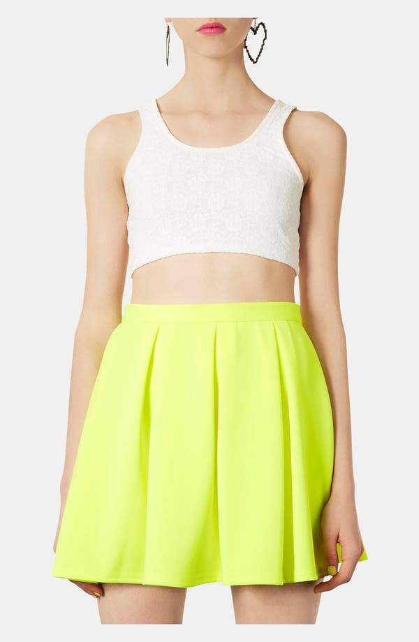 Alternate Image 1 Selected - Topshop Lace Super Crop Tank