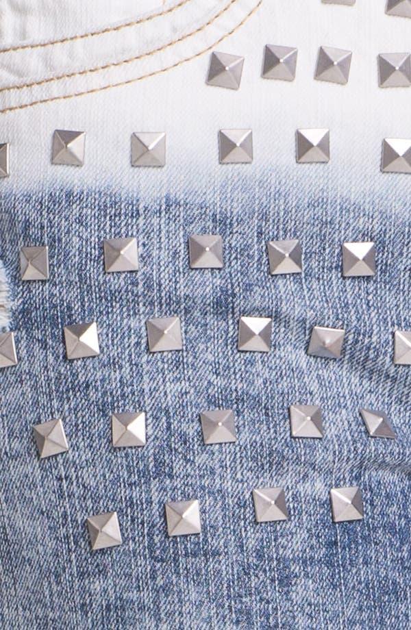 Alternate Image 3  - Jolt Stud Dip Dye High Waist Denim Shorts (Juniors)
