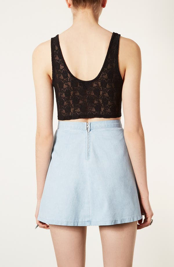Alternate Image 2  - Topshop 'Super' Lace Crop Tank