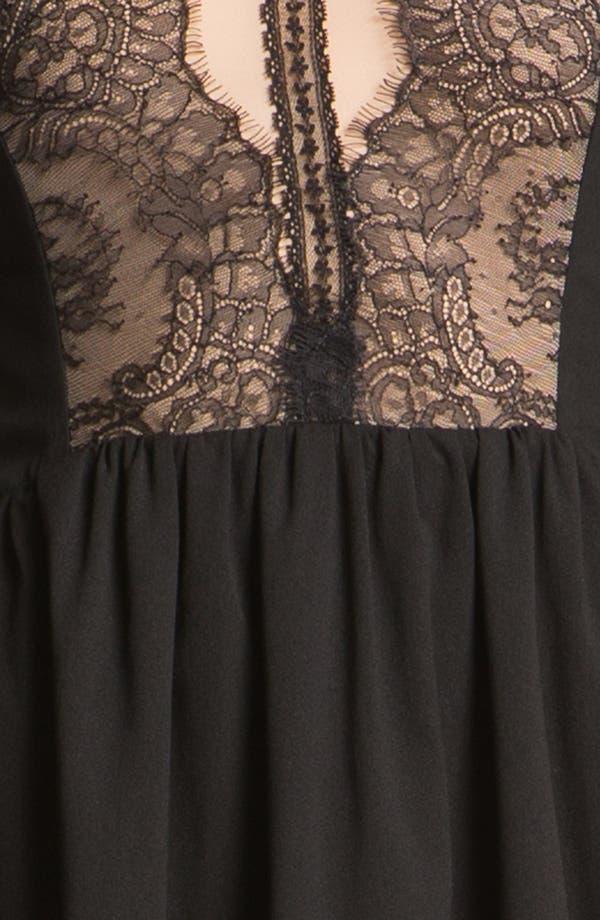 Alternate Image 3  - En Crème Lace Illusion High/Low Dress (Juniors)