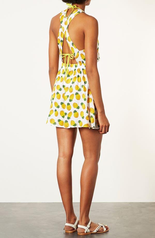 Alternate Image 3  - Topshop Pineapple Print Sundress
