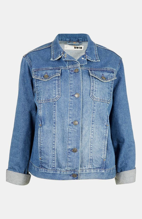 Alternate Image 3  - Topshop Moto 'Sylvie' Vintage Denim Jacket