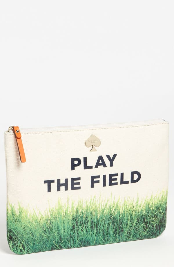 Alternate Image 1 Selected - kate spade new york 'call to action - gia' canvas pouch