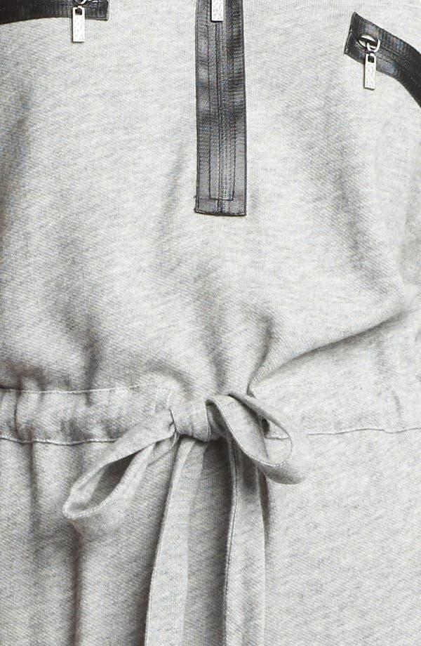 Alternate Image 3  - Kensie Drawstring French Terry Dress