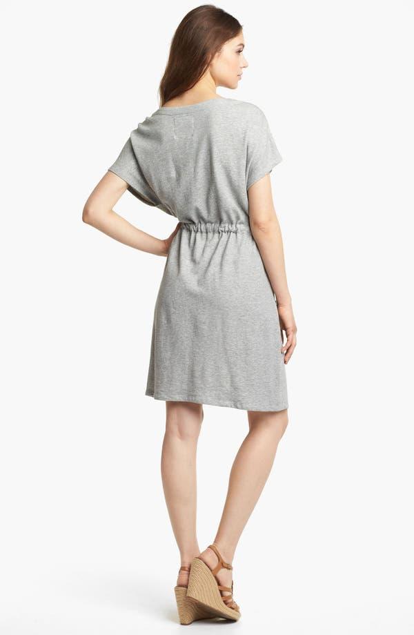 Alternate Image 2  - Kensie Drawstring French Terry Dress