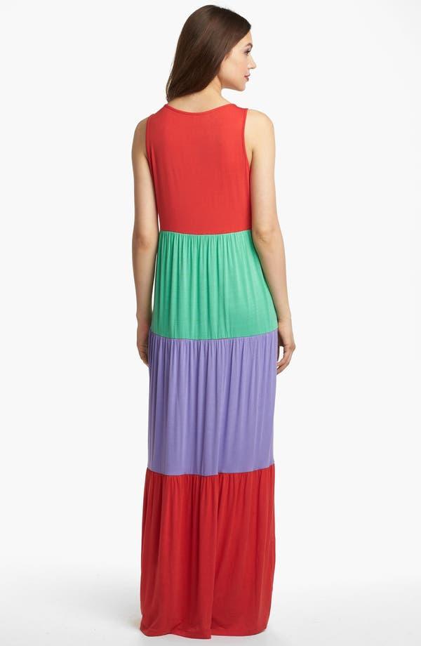 Alternate Image 2  - Kensie Colorblock Maxi Dress