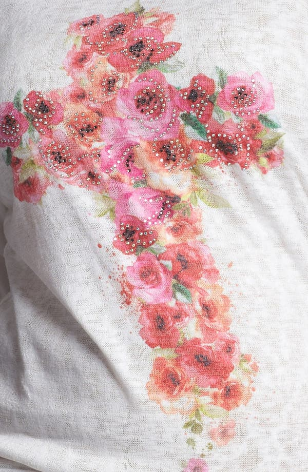 Alternate Image 3  - Painted Threads Floral Cross Top (Juniors Plus)