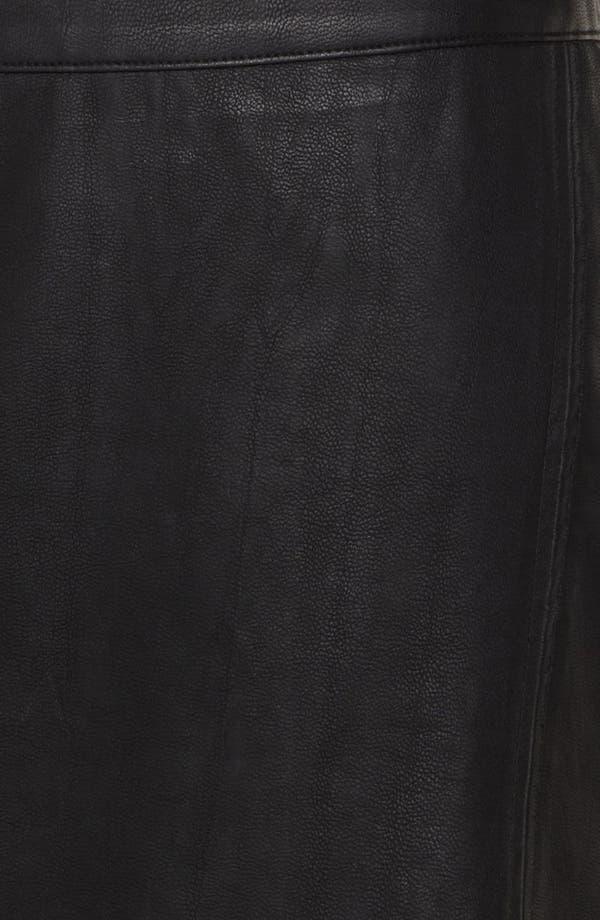 Alternate Image 4  - ASTR Asymmetrical Faux Leather Skirt