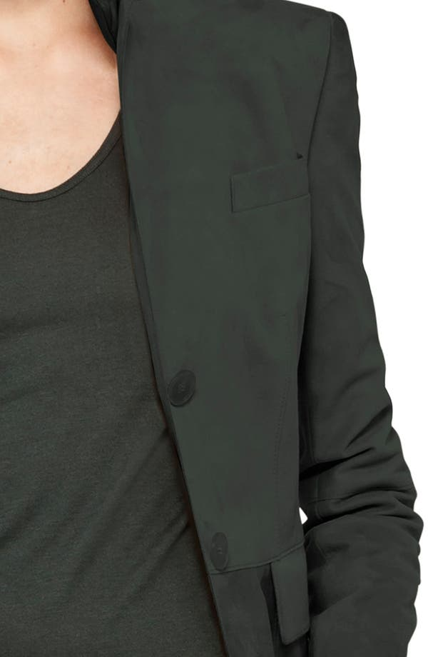 Alternate Image 5  - Akris punto Two Button Lamb Suede Blazer