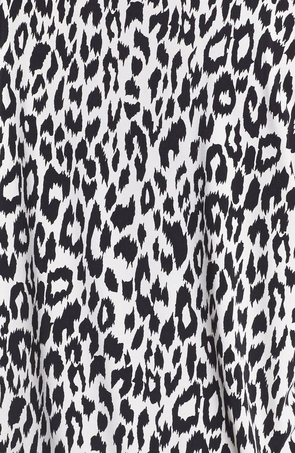 Alternate Image 3  - Karen Kane Leopard Print Drape Jacket (Plus Size)