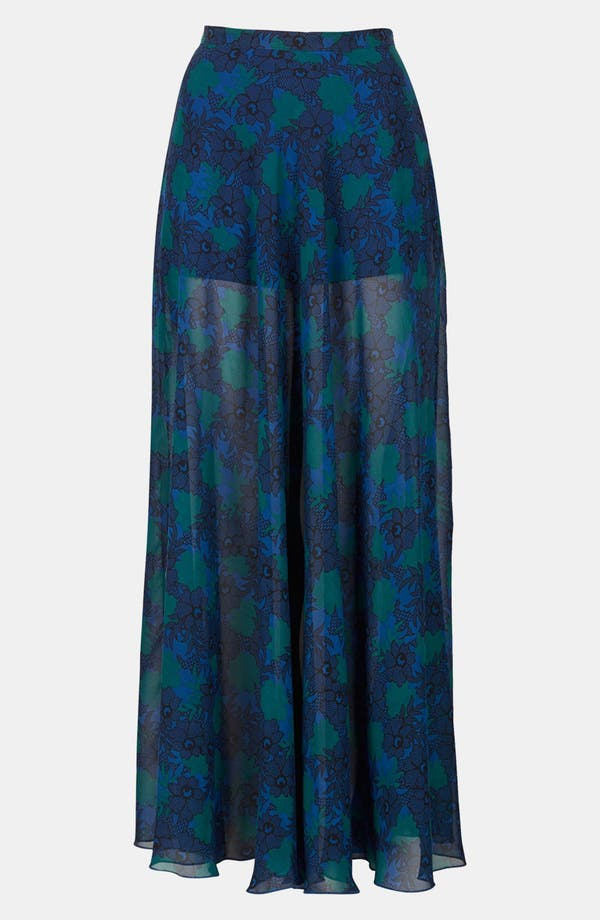 Alternate Image 3  - Topshop Lace Print Maxi Skirt