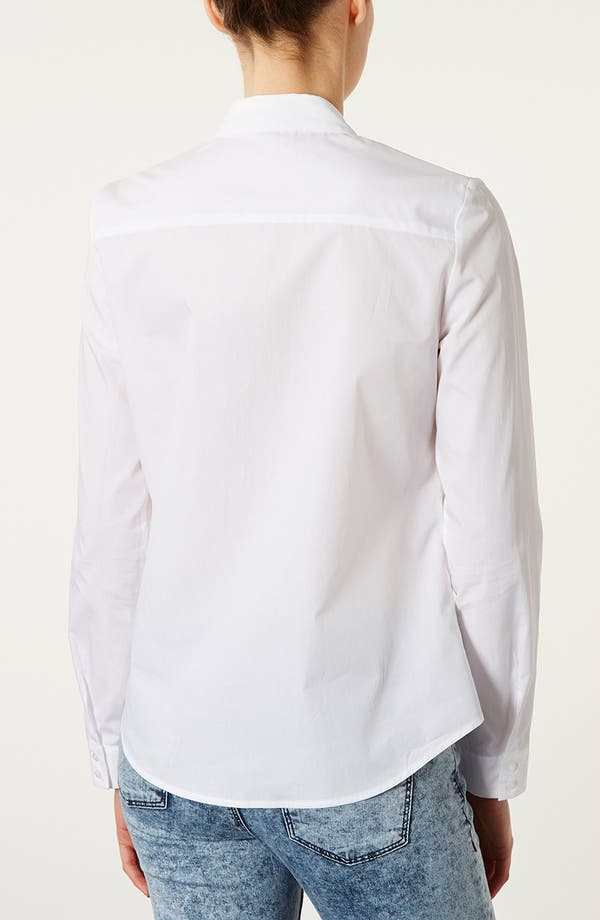 Alternate Image 2  - Topshop Cotton Shirt