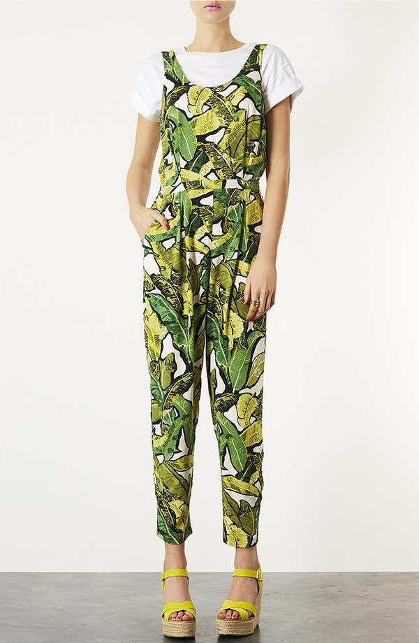 Alternate Image 1 Selected - Topshop Banana Leaf Jumpsuit