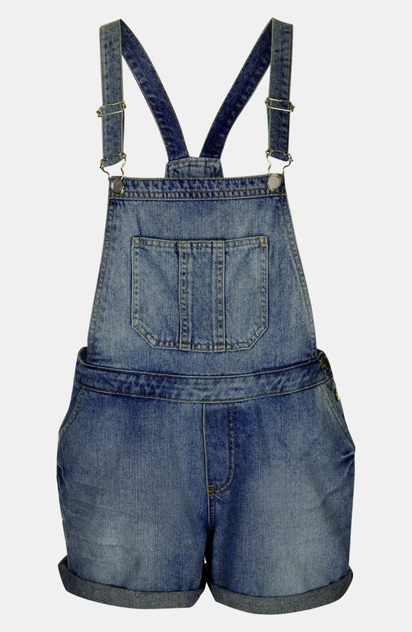 Alternate Image 1 Selected - Topshop Moto 'Tommy' Short Overalls