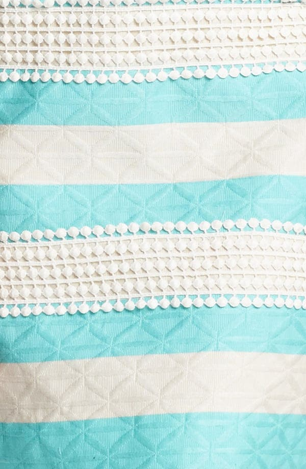 Alternate Image 3  - Taylor Dresses Jacquard Stripe Lace Detail Shift Dress