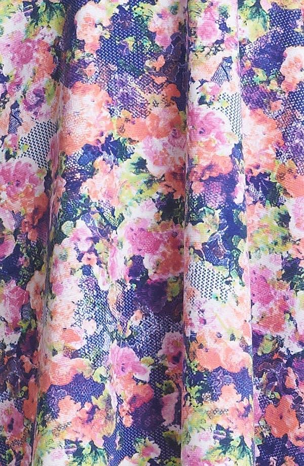 Alternate Image 4  - Soprano Back Cutout Print Skater Dress (Juniors)