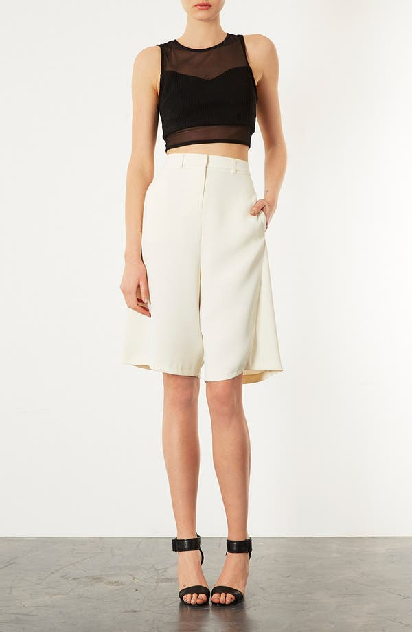 Alternate Image 4  - Topshop Tailored Culottes