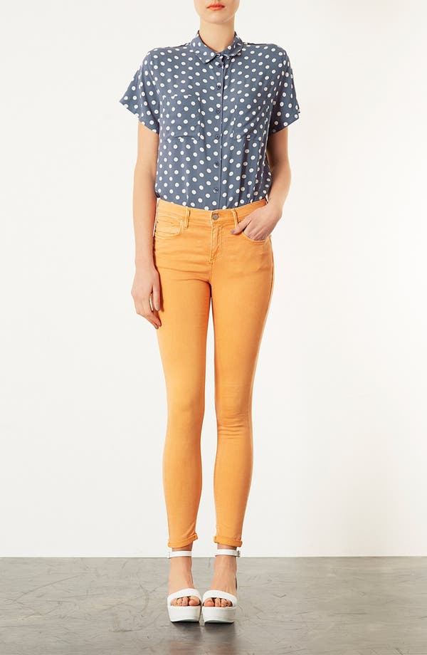 Alternate Image 4  - Topshop Polka Dot Shirt