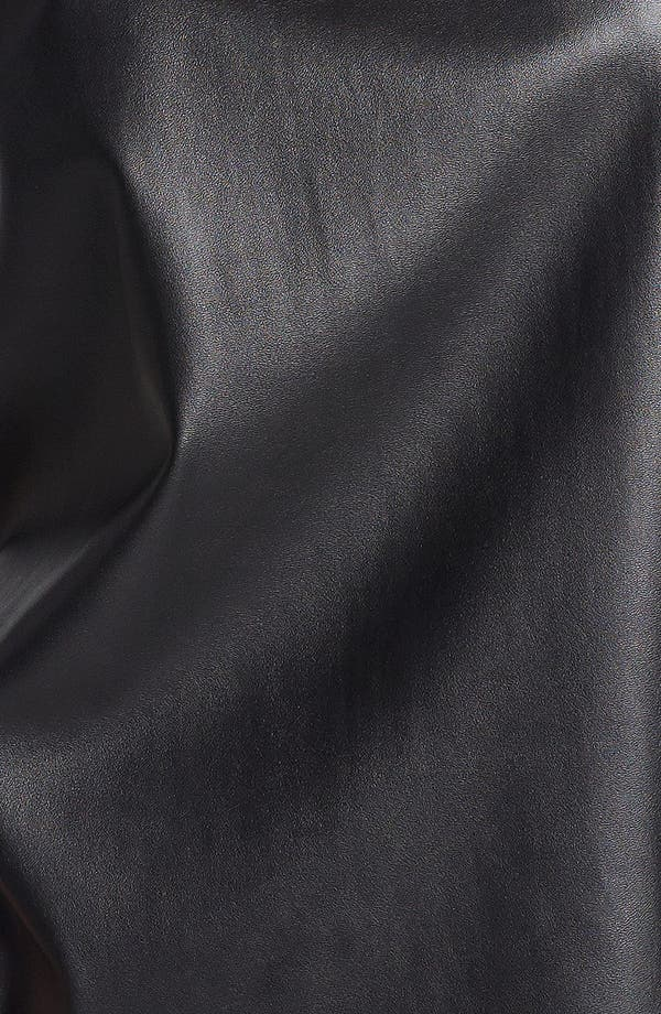 Alternate Image 3  - Soprano Faux Leather Front Tank (Juniors)