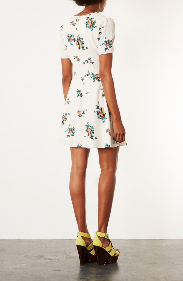 Alternate Image 2  - Topshop Floral Tea Dress