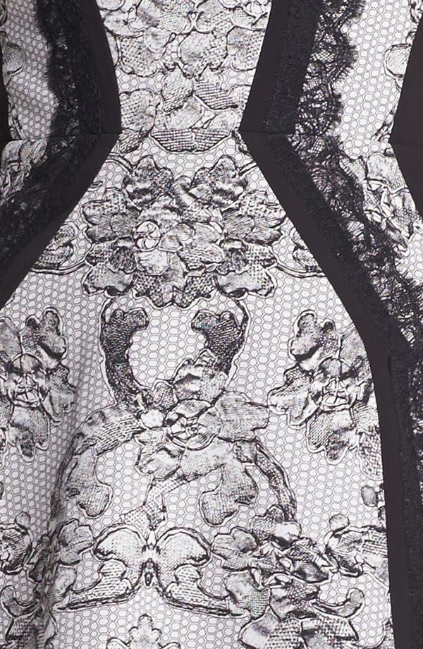 Alternate Image 3  - BCBGMAXAZRIA Lace Print Fit & Flare Dress