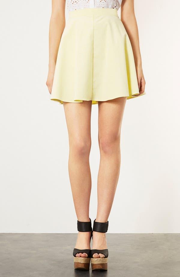 Alternate Image 1 Selected - Topshop Corduroy Skater Skirt