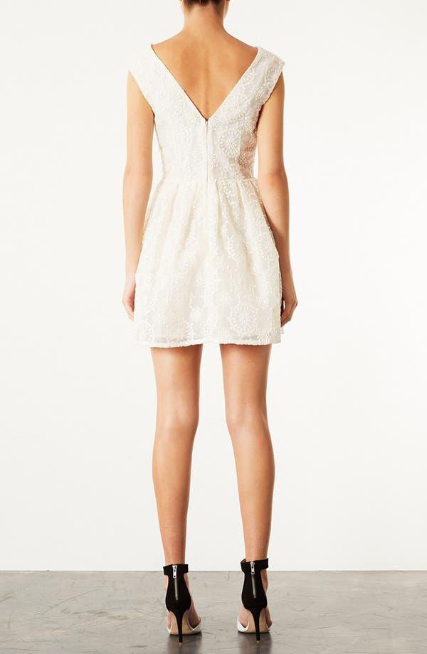 Alternate Image 2  - Topshop Embroidered V-Back Dress