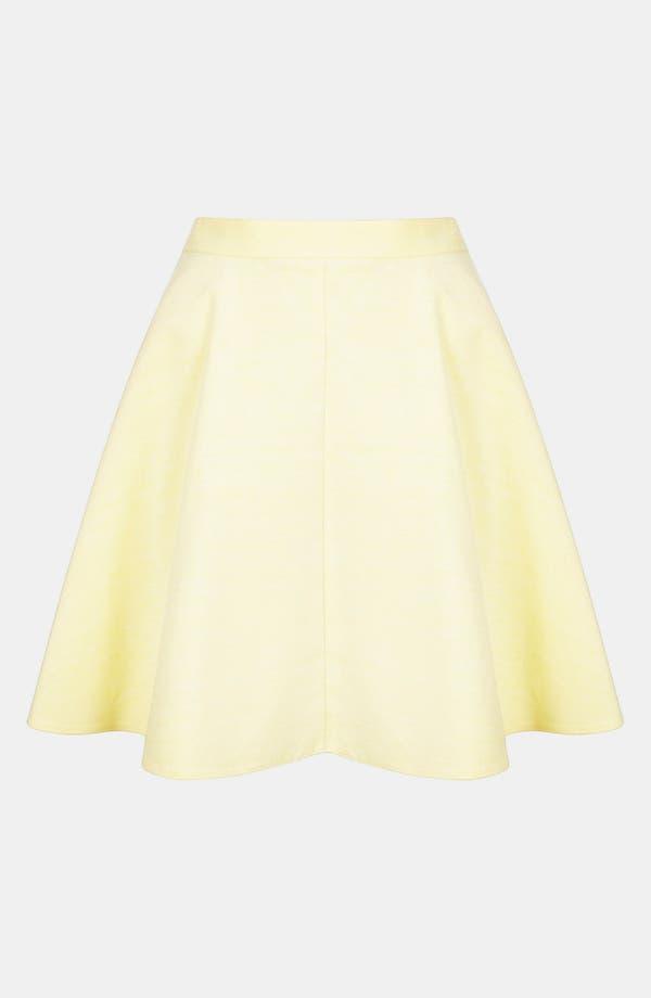 Alternate Image 3  - Topshop Corduroy Skater Skirt
