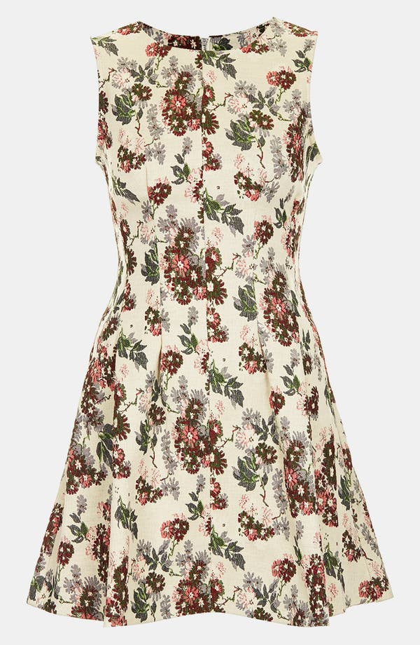 Alternate Image 3  - Topshop Floral Jacquard Dress