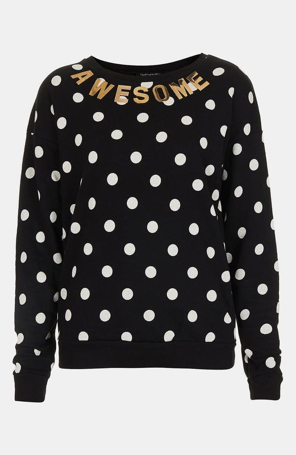 Alternate Image 3  - Topshop Spotted Slogan Sweatshirt