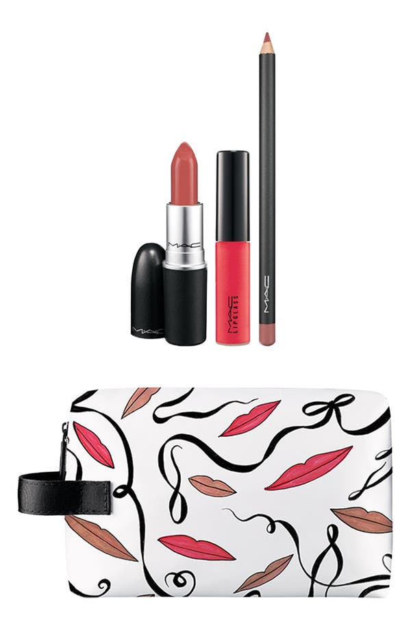 Main Image - M·A·C 'Illustrated' Lip Bag (Nude) (Nordstrom Exclusive) ($81 Value)