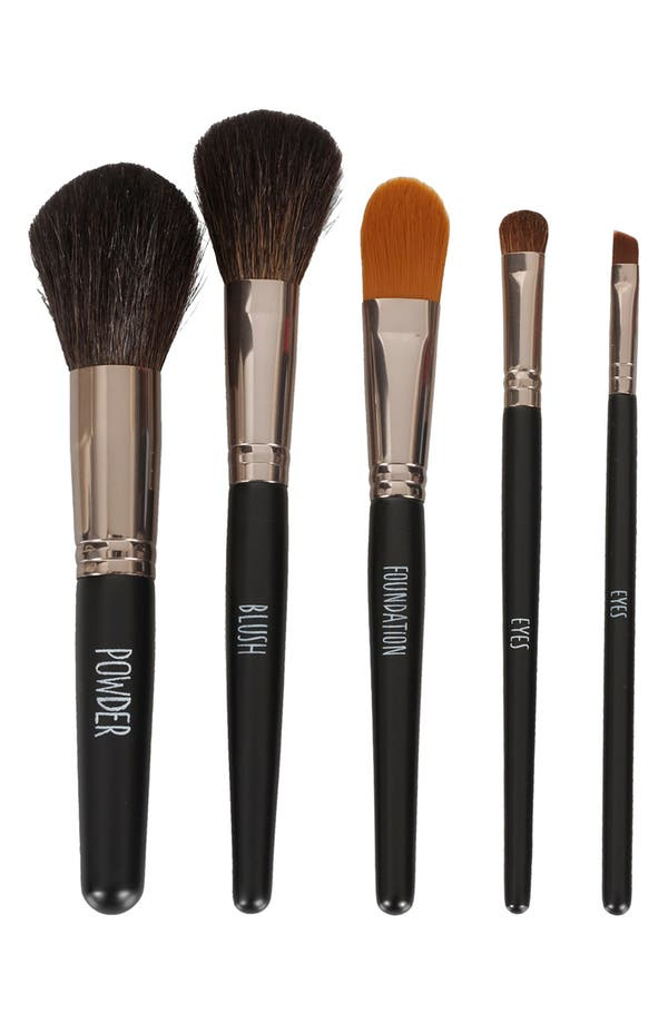 Alternate Image 1 Selected - Topshop 'Gunmetal' Brush Set